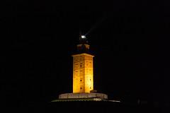Torre de Hércules. (carlosgsanmillan) Tags: españa spain galicia coruña nocturna night faro torres tower mar sea hércules nightshot
