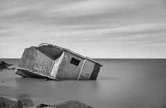 erosion (Illogical_images) Tags: illogicalimages sunken bunker ww2 concrete sony a7r long longexposure nd 16stop formatt hitech black bw blackandwhite mono minimal shore decay bnw