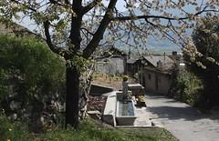 Branson (bulbocode909) Tags: valais suisse branson villages maisons fontaines arbres printemps vert cerisiers