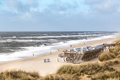 Kampen Beach (lapideo) Tags: kampen sylt beachchairs sea beach northsea sky nature