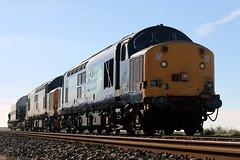 37603+37609 (Cumberland Patriot) Tags: drs direct rail services carlisle kingmoor traction maintenance depot tmd cumbria br british ee english electric type three type3 class 37 376 37603 37504 37039 6739 d6739 37609 37514 37115 6815 d6815 diesel dieselelectric loco locos locomotive locomotives seascale cumbrian coast railway line 6c53 fna nuclear flask wagon refurbished split box tractor growler syphon