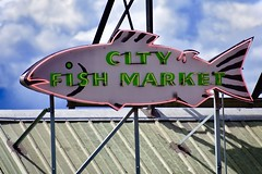 Pike Place Market Seattle (Beautification Syndrome) Tags: seattle publicmarket seattlepublicmarket citymarket fishmarket fish trip neonsign seafood pikeplace pikeplacemarket