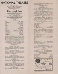 Porgy & Bess opens to rave reviews; mixed audience: 1936 (washington_area_spark) Tags: todd duncan anne brown porgy bess 1936 national theater jim crow segregation integration whites only boycott strike performance washington dc mixed audience african american black history
