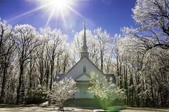 South Raleigh Bible Church (peterncsu) Tags: sunflare sunstar church icestorm nikond610 sigma35art