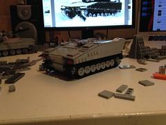Some more progress shots (Retroshark) Tags: tank lego military custom apc armadillo armour moc cv90 uploaded:by=flickrmobile flickriosapp:filter=nofilter