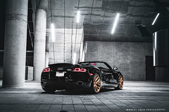 AUDI V10 R8 SPYDER ADV.1 (Marcel Lech Photography) Tags: canada black detail eye birds bronze vancouver photography gold marcel view interior wheels convertible spyder audi v10 lech r8 adv1