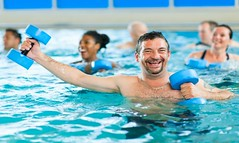 Is Aqua Tai Chi Right for You? (classesncamps) Tags: friends people male men sports water pool smile smiling horizontal female swimming happy healthy women diverse exercise group happiness swimmingpool africanamerican filipino cheerful workout fitness ethnic adults caucasian publicpool communitypool lookingatcamera wateraerobics healthylifestyle asianethnicity multiethnicgroup