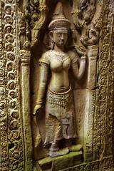 Apsara dancer (Preah Khan, Cambodia) (armxesde) Tags: sculpture stone temple cambodia kambodscha pentax dancer carving angkor apsara k5 tempel preahkhan