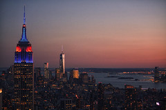 L'Empire State Building dal Top of the Rock   Rock (Nadia Manfredi) Tags: new york sunshine rock tramonto top empire