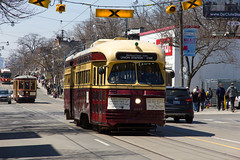 PCC Streetcar (dtstuff9) Tags: street old toronto ontario canada beach public car easter ttc historic parade queen east peter transportation transit beaches conference commission presidents committee witt pcc streetcars