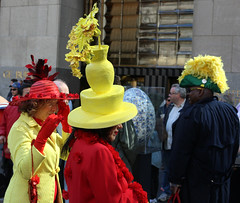 Easter Hats & Outfits in NYC (SA_Steve) Tags: nyc red green hat yellow easter hats bonnets