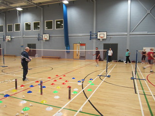 The Easter target challenge at one of our adult badminton coaching sessions