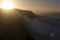La corniche (carlus beach!) Tags: ocean sunset france color beach night soleil wave vague btz