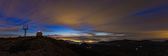 Blue Hour from Aitana (Alex Stoen) Tags: longexposure sunset panorama mountain night clouds canon geotagged atardecer noche google spain flickr nocturnal time altitude alicante panoramica citylights nubes summit bluehour overlook height altura mouvement cima smugmug facebook largaexposicion aitana fav10 fav25 sierradeaitana 500px 1dx creativecomposition horaazul ef1635f28liiusm alexstoen alexstoenphotography canoneos1dx compositionexercises
