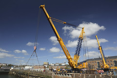 Heavy Lift (Ade-Wales(Moving house, see you soon!)) Tags: lock milfordhaven ainscough heavyliftcrane milfordmarina mhpa milforddocks portofmilfordhaven