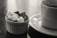 Simplicity (Ali Sabbagh) Tags: life morning bw white black love coffee canon hearts heart sweet sugar 7d cubes bnw monocolor abigfave
