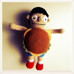 Gene Belcher Amigurumi (ham_and_eggs) Tags: toy doll handmade crochet cartoon amigurumi hambuger bobsburgers genebelcher