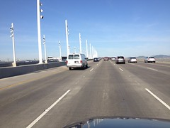 (wbaiv) Tags: oakland sf commute there back again 580 north bay bridge yerba buena island san francisco vw passat 715 am 830 fromcar outwindow driving riding car automobile motor vehicle transport land wheeled