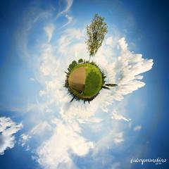 My first Sferic Panorama (fabrymondino|photography) Tags: sky panorama clouds nuvole blu planet agricoltura sferico pianetino sfericpanorama