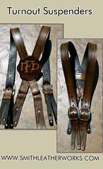 Leather turnout suspender custom made Smithleatherworks (Smith Leatherworks) Tags: leather bunker custom stainless 134 turnout suspender susp smithleatherworks