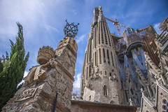La Sagrada Familia (tamerfouad) Tags: barcelona sky color building tower art glass colors beautiful beauty architecture facade digital photoshop buildings outdoors photography yahoo google amazing spain graphics flickr torre tour pages edificio towers streetphotography best collection thumb sensational tall thumbnails msn sagradafamilia turm flikr brilliant flick flicker wolkenkratzer rascacielo gratteciel blueribbonwinner flickrcolour favemegroup7 globalvillage2 dexxus saversclip dwcffurban