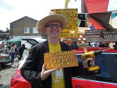 Bob and Roberta Smith, Vauxhall Art Car Boot Fair (2014) (Paul-M-Wright) Tags: brick london art car yard boot artist patrick fair lane artists brill e1 vauxhall 2014 bobandrobertasmith doyouwanttomakegreatpaintings