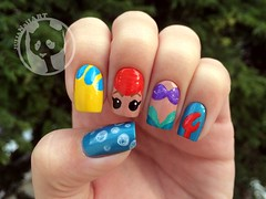 Mermaid Nail Polish Meme Little mermaid (julia bergamin) tags: art ...