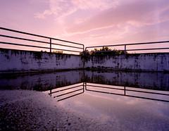 urban sunset (. ) Tags: sunset clouds mediumformat mirror wideangle kit 6x7 parkdeck c41 filmphotography 30c selfdevelopment mamiya7ii tetenal filmshooter kodakporta400 mamiya50mm