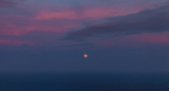Moonrise in Sunset Light (rnakama_photos) Tags: moon dusk fullmoon moonrise