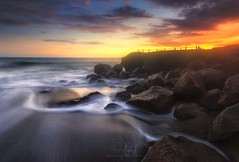 Sucking Water - Seseh Beach (Farizun Amrod Saad) Tags: travel sunset bali indonesia waves seascapes stones sesehbeach