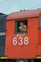 waiting (glenn_cunningham) Tags: railroad newyork pennsylvania trains smoking driftwood emporium engineer keating falconer olean alco mlw larabee eldred turtlepoint sizerville c425 portallegany c630 c424 m636 westernnewyorkpennsylvania railroadersconductor