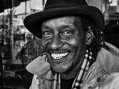 Happy Fridays (Mark Emirali) Tags: street portrait monochrome smile happy fuji streetportrait laugh x20 happyfridays markemirali fujifilmx20