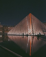 pyramid (chrstntdd) Tags: vacation people paris france lines lights shadows pyramid filter cor lourve vsco vscocam uploaded:by=flickrmobile flickriosapp:filter=nofilter