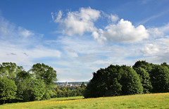Beautiful sunny day, slopes, University of Kent (Jim_Higham) Tags: blue trees summer sky weather clouds spring education day view calendar cathedral cloudy canterbury excellent lovely he higher buttercups universityofkent