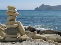 (dream is destiny...) Tags: blue azul stone big san place secret jose hidden balance almeria cairn piedras amontonadas equilibriospain