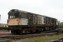075. 58022 loading at Crewe Diesel. 30-May-14; Ref-D104-P075 (paulfuller128) Tags: train ale class crewe locomotive bone scrap 58 mainline 58022 dmud c58lg