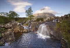 The Buachaille etive mor (Anthony Thomas Johnstone .) Tags: trees sky cloud mountain fall water scotland nikon rocks stones glencoe buachaille d600 stob dearg 24mm70mm