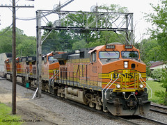 BNSF 4022 West (Million Views on 1-18-2015, Thank You Everyone!) Tags: g stack ge freight bnsf rochelleil c449w
