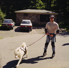 "WooFDriver Roller Blading With Czar 2 • <a style=""font-size:0.8em;"" href=""http://www.flickr.com/photos/96196263@N07/14367758859/"" target=""_blank"">View on Flickr</a>"
