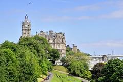 Vintage Buildings of Edinburgh (jerryjcwu) Tags: city uk travel landscape scotland scenery edinburgh europe view nikkor streetview d600 nikonafsnikkor85mmf14g
