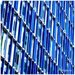 Rhythm and blues (paulbiggsphotography) Tags: blue white colour detail building london architecture pattern geometry southbank shutters rhythm