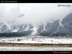 Ice Everywhere @ Sikkim (PrasunDutta) Tags: blue sky cloud india snow tree ice forest nikon hill north colorphotography cloudscape sikkim gangtok d90 prasun lachung nikond90 yungtham prasundutta prasunsphotography
