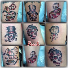 Fri the 13th bangers...thanks friends for coming out and getting zapped!!!! #fri13tattoos  #alteredstatetattoo #lakeworthtattoo #eldubink #pooch_art