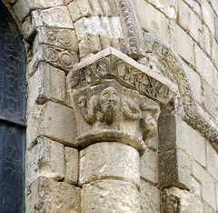 The apse of the Church of Notre-Dame, Chauvigny, Vienne, France (Hunky Punk) Tags: france stone churches carving medieval notredame romanesque middleages vienne capitals chauvigny hunkypunk apses spencermeans