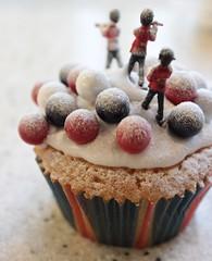 GB, Great Britain, Great Baking (trackybottoms) Tags: cake baking cupcake gb ho littlepeople unionjack redwhiteblue smallpeople bearskins