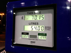 Fill Her Up (Marc Sayce) Tags: 6 120 up vw golf her gas petrol gti gasoline 13 mk prices fill 2010 gallons mk6