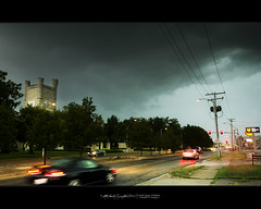 Rush (storm) hour! (StormLoverSwin93 | Into the Storm) Tags: light sky storm motion art cars water weather clouds canon landscape photography illinois atmosphere saturation thunderstorm moisture humidity instability outflow eiu 60d canon60d illinoisthunderstorms