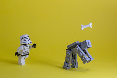 Catch~! (Yangchih) Tags: yellow toy starwars lego stormtrooper atat minifigure