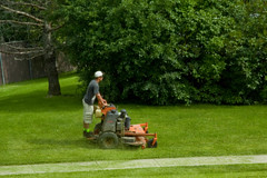 Young Man Riding the Power Lawn Mower 0777 (www.cemillerphotography.com) Tags: summer plants money tree men green college nature boys grass electric mobile work bush weeds warm mechanical employment outdoor landscaping cut labor wheels lawn pickup device rubber gas clip clean business company remove edge hedge stuff hoe shave mow motor tall blade contract mower lower gasoline noise temporary job utensil extra height slope carry position appliance apparatus pare organize spade spending prune implements youths occupation landscapers flatten collegemen trimgarden