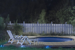 Night time pool place (explored) (Sina Farhat) Tags: longexposure light summer home pool night canon fence göteborg chair raw sweden bokeh tripod sverige natt stol hemma sommar 031 ljus stativ gothenborg staket 50d skärpedjup långexponering canon3580456 photoshopcc